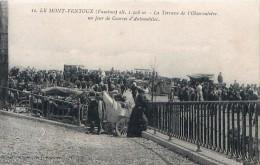 Cpa LE MONT VENTOUX 84 La Terrasse De L' Observatoire Un Jour De Courses D Automobiles - France