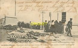85 Les Sables D'Olonne, Cp Pionnière, Les Cabines De Bains Montées à La Hâte Sur Le Remblai, Carte Pas Courante - Sables D'Olonne