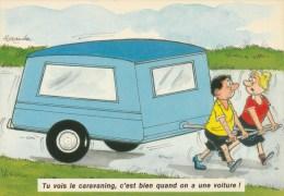 CPAM HUMOUR CAMPING COUPLE - Tu Vois Le Caravaning C'est Bien Quand On A Une Voiture Llustrateur ALEXANDRE - Humour