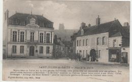 Cpa SAINT JULIEN DU SAULT (89)  Place De La Mairie  -1918 - - Saint Julien Du Sault