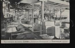 BA886 POMPADOUR ...VUE INTERIEURE DE L USINE COMBY ...voyagee 1911 - France