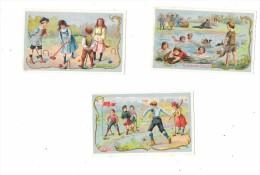Lot De 3CHROMOS  - Produits GLORIA : Thème SPORTS : Ballon, Course Canard, Golf, Croquet - Other