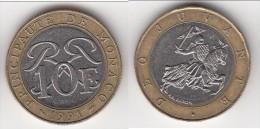 **** MONACO - 10 FRANCS 1991 - SCEAU DES GRIMALDI - RAINIER III  **** EN ACHAT IMMEDIAT !!! - Monaco