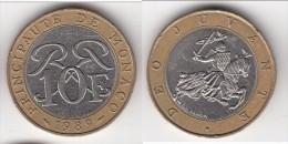 **** MONACO - 10 FRANCS 1989 - SCEAU DES GRIMALDI - RAINIER III  **** EN ACHAT IMMEDIAT !!! - Monaco