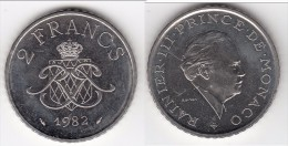 **** MONACO - 2 FRANCS 1982 RAINIER III  **** EN ACHAT IMMEDIAT !!! - Monaco