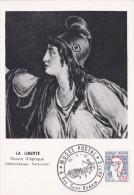 CM  MUSEE POSTAL PARIS LA LIBERTE  23/02/61  SCANS RECTO VERSO - 1960-69