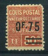 FRANCE ( COLIS POSTAUX ) :  Y&T N°  91  TIMBRE  NEUF  AVEC  TRACE  DE  CHARNIERE  ,  A  VOIR . - Colis Postaux