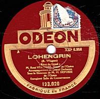 """78 Trs 30 Cm état EX - René VERDIERE - LOHENGRIN """"Recit Du Graal"""" """"Nothung, Nothung, Glaive Rêvé"""" - 78 Rpm - Schellackplatten"""