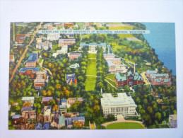 Aeroplane View Of  UNIVERSITY  Of  WISCONSIN ,  MADISON , WISCONSIN   1939    - Madison
