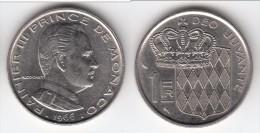 **** MONACO - 1 FRANC 1966 RAINIER III  **** EN ACHAT IMMEDIAT !!! - Monaco