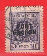 MiNr.9a  O Deutschland Freie Stadt Danzig  Port Gdansk - Danzig