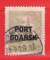 MiNr.15  O Deutschland Freie Stadt Danzig  Port Gdansk - Danzig