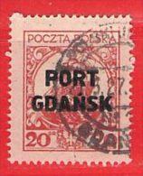 MiNr.18I.  O Deutschland Freie Stadt Danzig  Port Gdansk - Danzig