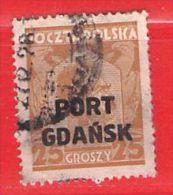 MiNr.19  O Deutschland Freie Stadt Danzig  Port Gdansk - Danzig