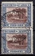 SÜDWESTAFRIKA Mi. Nr. 152/153 O Senkrechtes Paar (5-5) - Africa Del Sud-Ovest (1923-1990)