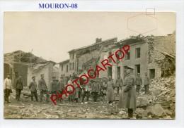MOURON-CARTE PHOTO Allemande-Guerre14-18-1WK-Militaria-Frankreich-France-08- - Non Classificati