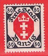 MiNr. 82 X (Falz)  Deutschland Freie Stadt Danzig - Danzig