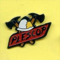 Rare Pins Pompier Plescop France C299 - Bomberos
