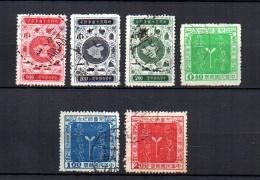 Taiwán  ( Formosa )     1956  .-   Y&T  Nº    202/203 - 205 - 207/209 - 1945-... República De China