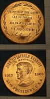 M_p> Stati Uniti Medaglia J.F. Kennedy 1917 - 1963 - PREZZO RIBASSATO - Professionali/Di Società