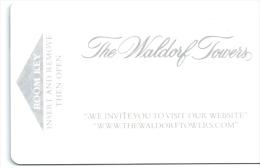 HOTEL WALDORF ASTORIA, Key Keycard Clef Llave Karte Hotelkarte - Hotel Labels