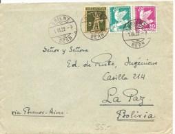 Schweiz, Brief,  Zu 183, 185, 187, Cbrienz 1.3.1932 Nach La Paz, Bolivia, Seltene Destination Siehe Scans! - Covers & Documents
