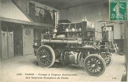 Paris : Les Pompiers - Pompe à Vapeur Automobile - Sapeurs-Pompiers