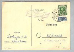Heimat DE BW Überlingen A.Ried 1953-01-12 Landpost-O PK - [7] République Fédérale