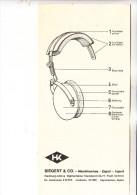 SCHIESSEN - Gehörschutz DC-Gehörmax, Siegert & Co., Instruktionsblatt, 1976 - Waffenschiessen
