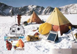 1 AK Antarctica * 50th Anniversary Of ANARE (Australian Antarctic Research Expedition) Mit Briefmarke Und Stempel 1997 - Ansichtskarten