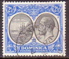 Dominica 1927 SG #78 2½d Used Black & Ultramarine - Dominica (...-1978)