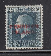 Penrhyn Island MH Scott #21 SG #24 Penrhyrn Island Overprint On NZ 2 1/2p George V - Penrhyn