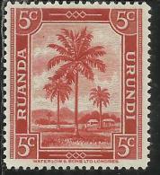 BELGIAN CONGO BELGA BELGE 1942 OIL PALMS PALME DA OLIO CENT. 5 MH - Belgian Congo