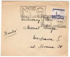 LETTRE  - Flamme : WYSTAWA 15-30 /IX/1937 - 1919-1939 Republic