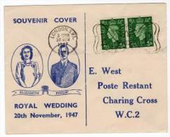LETTRE Philatélique - ROYAL WEDDING Du 20/11/1947 - 1902-1951 (Kings)