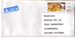 GOOD BELGIUM Postal Cover To ESTONIA 2015 - Good Stamped: Food / French Frys - Belgium
