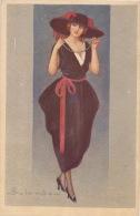 FEMME - WOMAN - MODE -  Jolie Carte Fantaisie Femme élégante Avec Chapeau Signé COLOMBO - Colombo, E.