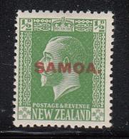 Samoa MH Scott #127 SG #134 Samoa Overprint On NZ 1/2p George V - Samoa