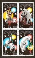 DDR Allemagne Orientale 1978  Yvertn° 2034-37 (°)  Used Cote 15,00 Euro Art Du Cirque - [6] République Démocratique