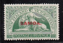 Samoa MH Scott #136 SG #143 Samoa Overprint On NZ 1/2p Victory Issue - Samoa