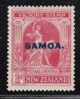 Samoa MH Scott #137 SG #144 Samoa Overprint On NZ 1p Victory Issue - Samoa