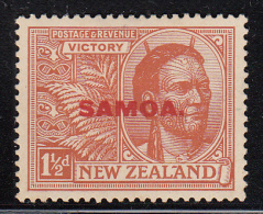 Samoa MH Scott #138 SG #145 Samoa Overprint On NZ 1 1/2p Victory Issue - Samoa