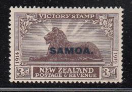 Samoa MH Scott #139 SG #146 Samoa Overprint On NZ 3p Victory Issue - Samoa