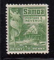 Samoa MH Scott #142a SG #149 1/2p British Flag, Samoan House Perf 14 X 14.5 - Samoa