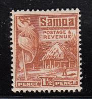 Samoa MH Scott #144 SG #151 1 1/2p British Flag, Samoan House Perf 14 X 14.5 - Samoa