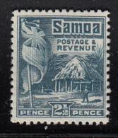 Samoa MH Scott #146 SG #157 2 1/2p British Flag, Samoan House Perf 14 X 13.5 - Samoa