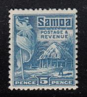 Samoa MH Scott #149 SG #160 5p British Flag, Samoan House Perf 14 X 13.5 - Samoa