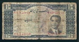 Banconote PERSIA IRAN PERSE PERSIEN PERSAN Iran PERSIAN 1935 MOHAMMAD REZA SHAH 10 RI USED - Iran