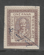 KOTA State India  1A  Revenue Type 42 K&M 420 # 86330  Inde Indien Fiscaux Fiscal Revenue - Indien