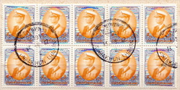 Thailand Used Stamp In Block Of 10 - Thailand